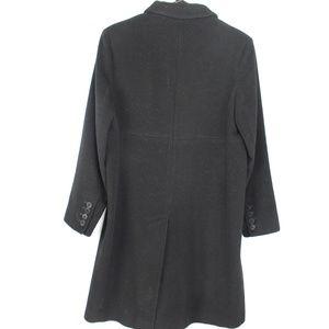 Anne Klein Jackets & Coats - Anne Klein black wool cashmere over coat midi
